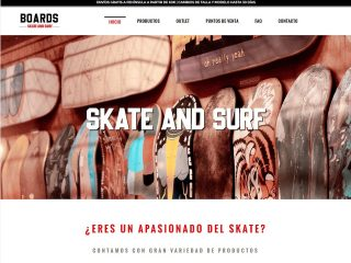 Boards skate and surf